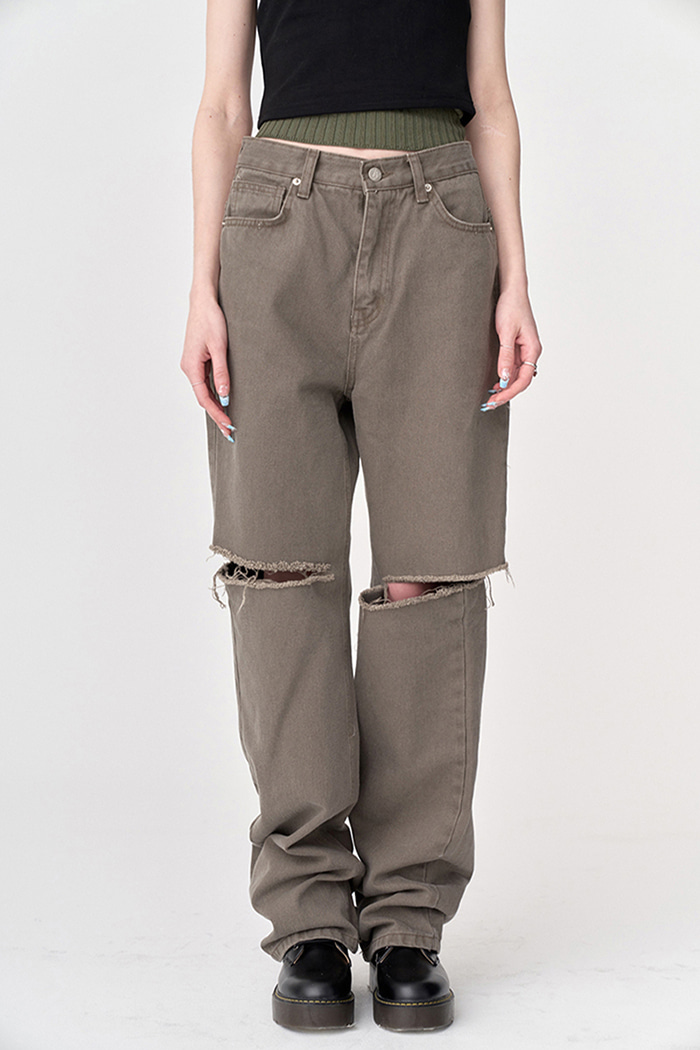 Cutting Jeans Dusty Brown