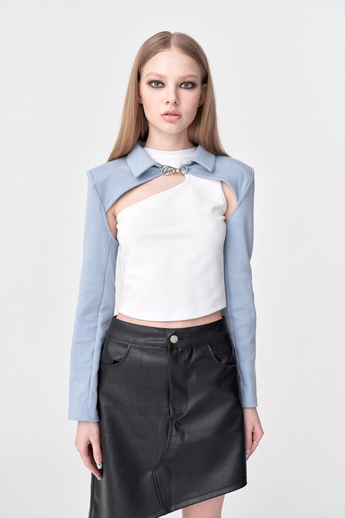Layered Cropped Hook Shirt (3 colors)