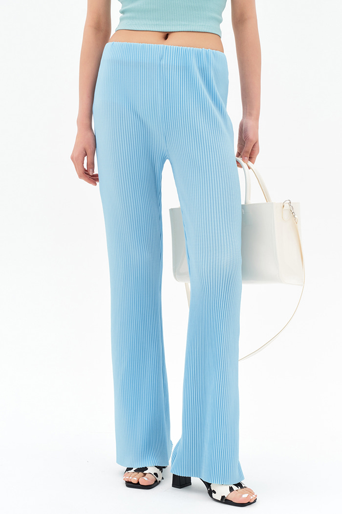 Pleats Banding Pants (2 colors)