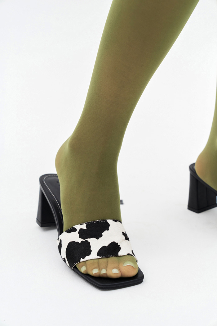 Cow Pattern Middle Mule (3 colors)