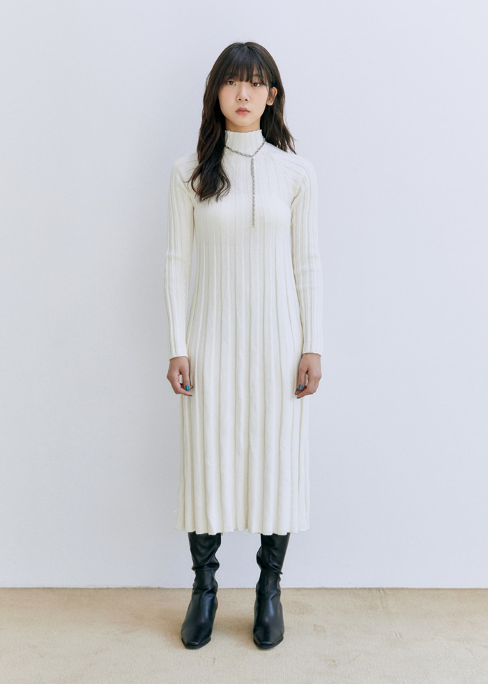 High Neck Knit Dress(2color)