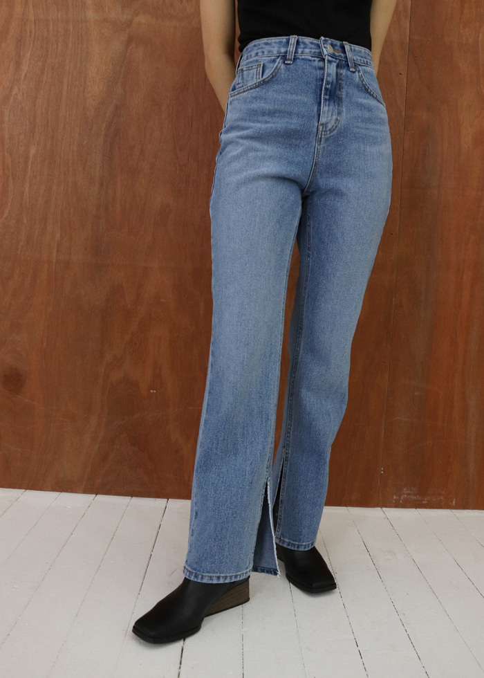 Inside Slit Denim Pants