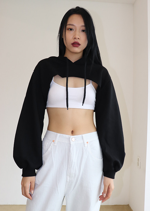 Cropped Hoodie Top (3colors)