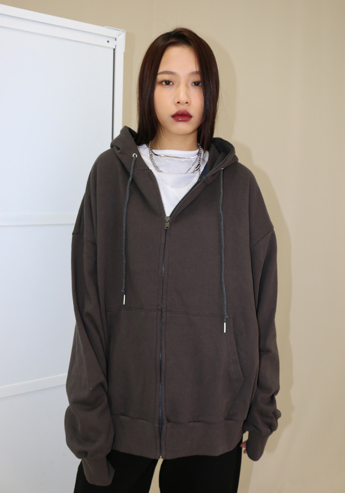 Unisex Boxy Hoodie Zip-up (4 colors)