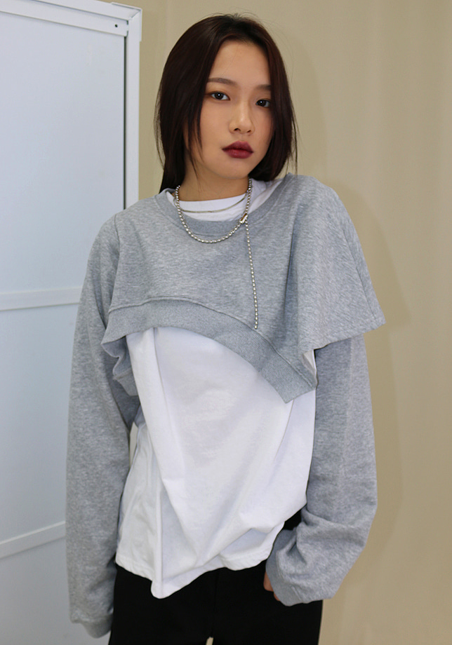 Irregular Crop Sweatshirt (3 colors)