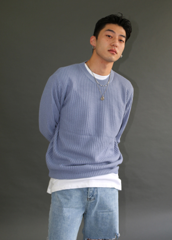 Structure Round Knit(4colors)