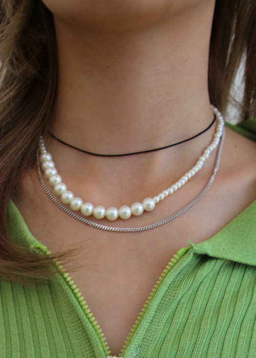 Double Pearl Necklaces