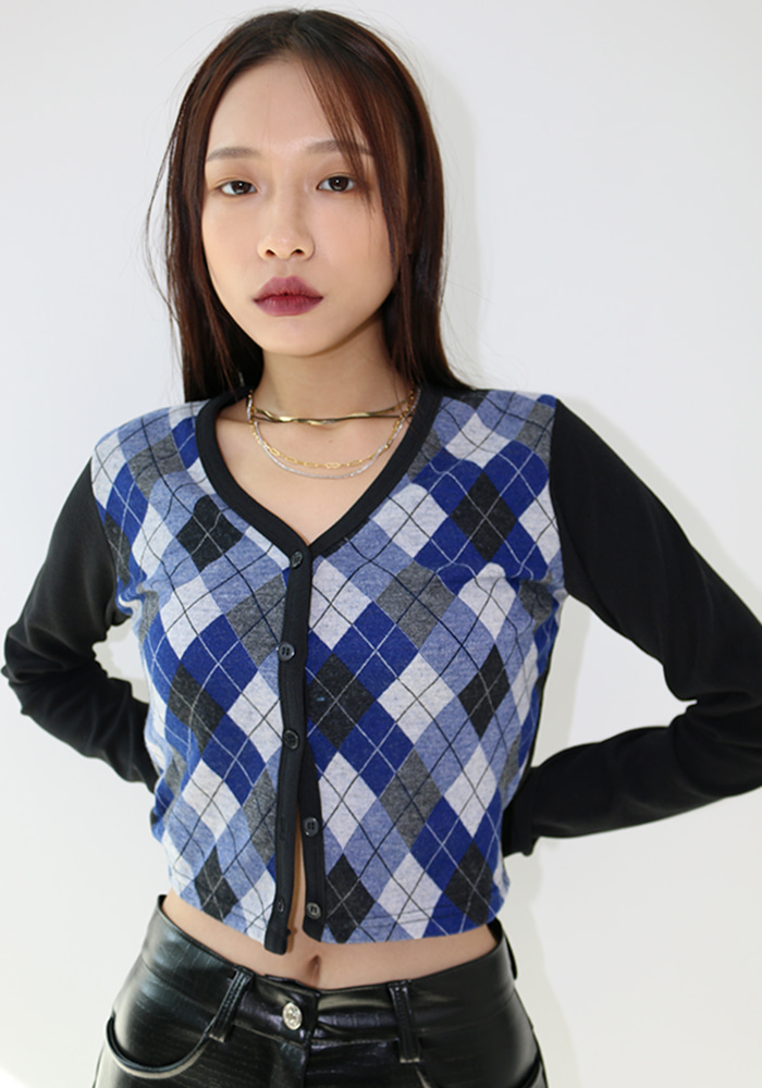 Plaid Check Cardigan ( 2 Color )