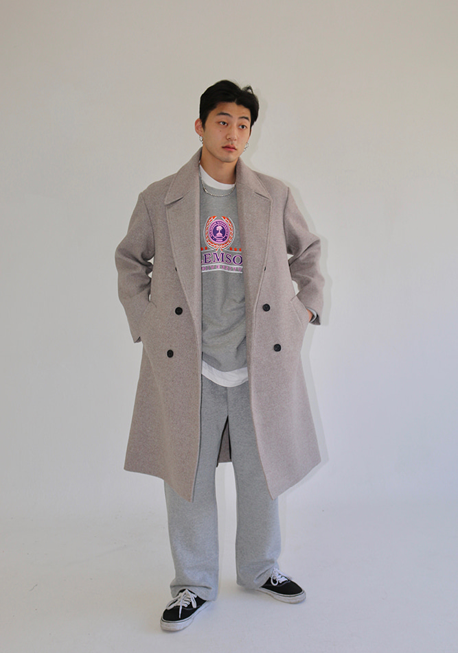 Basic Plain Long Coat (3 colors)