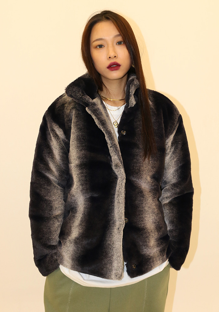 Vertical Fur Jacket (2 colors)