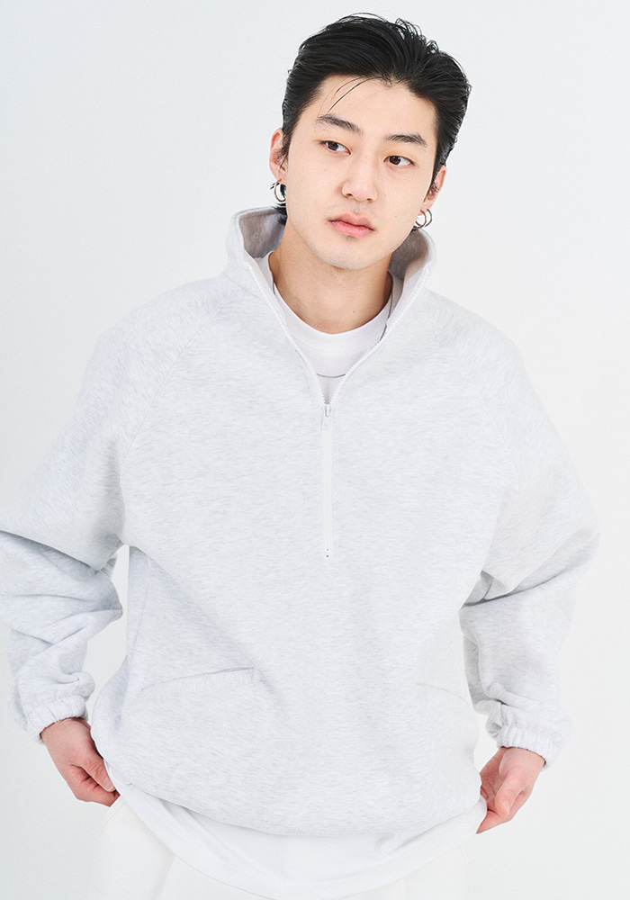Half Zip-up Sweat Shirt (3 colors)