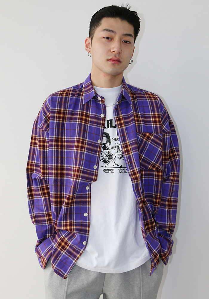 Contrast Check Shirt (2 colors)