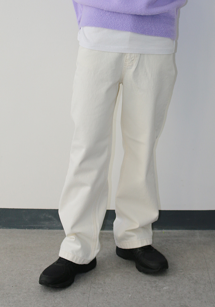 Ivory Cotton Pants