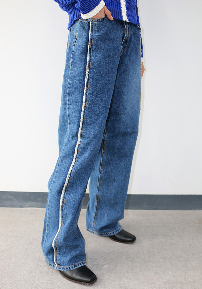 Fringe Washed Jeans