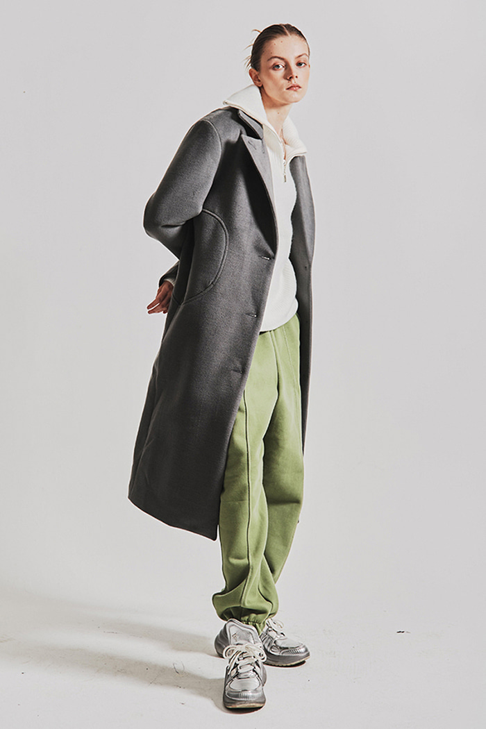 Peaked Hall Slim Long Coat (2 colors)