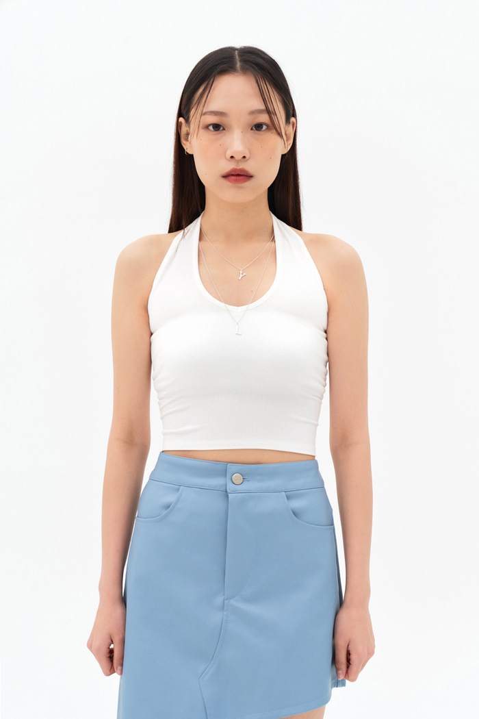 Halter Neck White