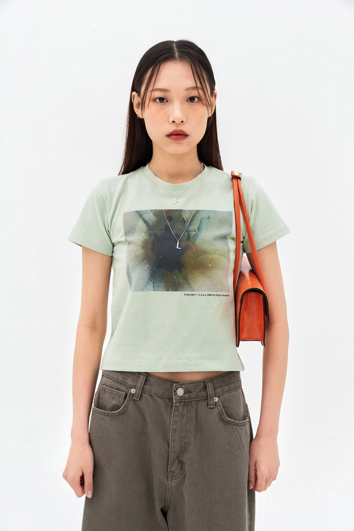 Abstract T-shirt Pale Green
