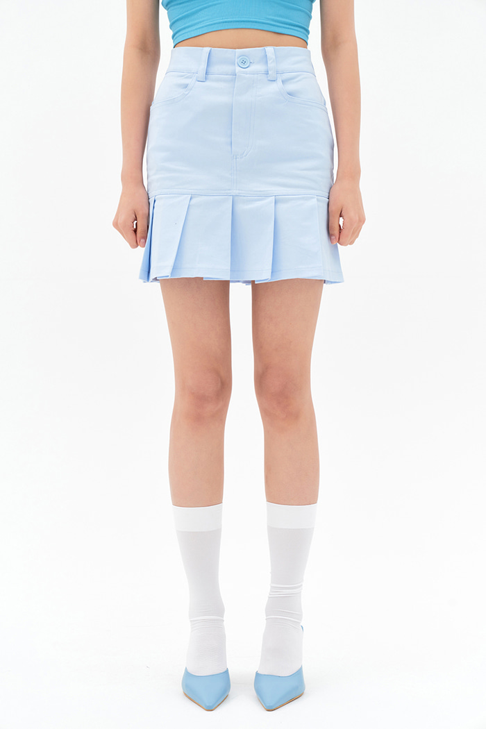 Pale Pleats Skirt