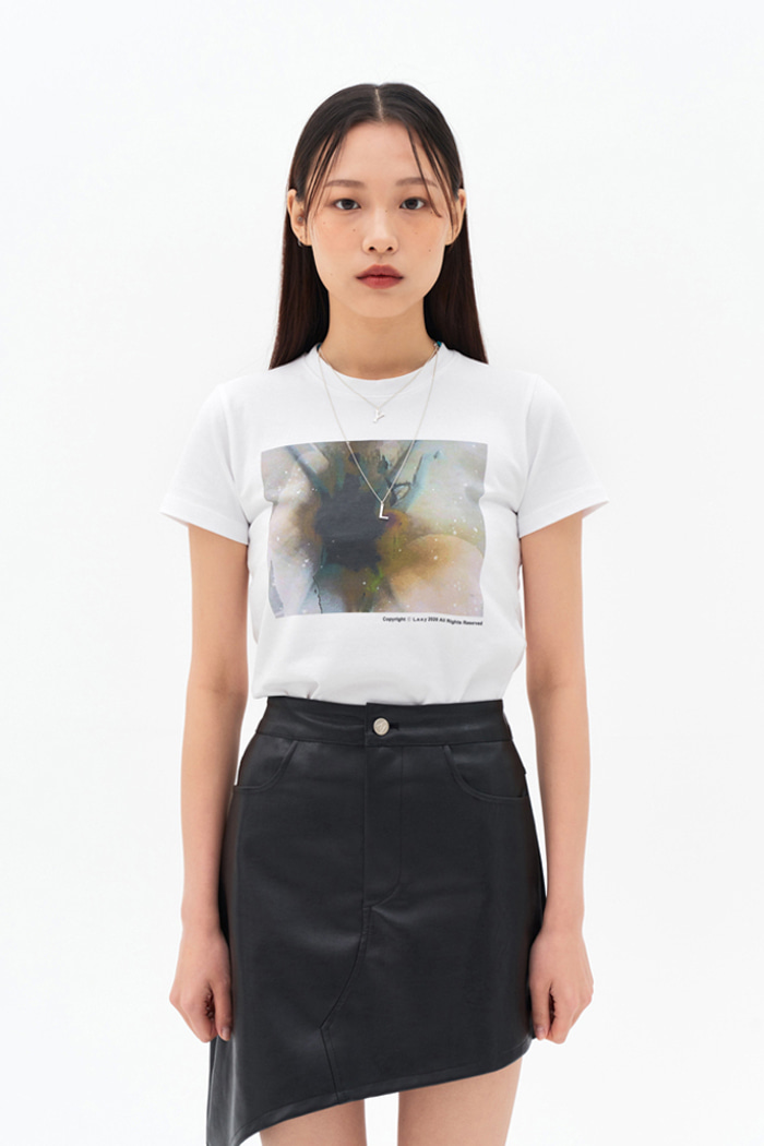 Abstract T-shirt White
