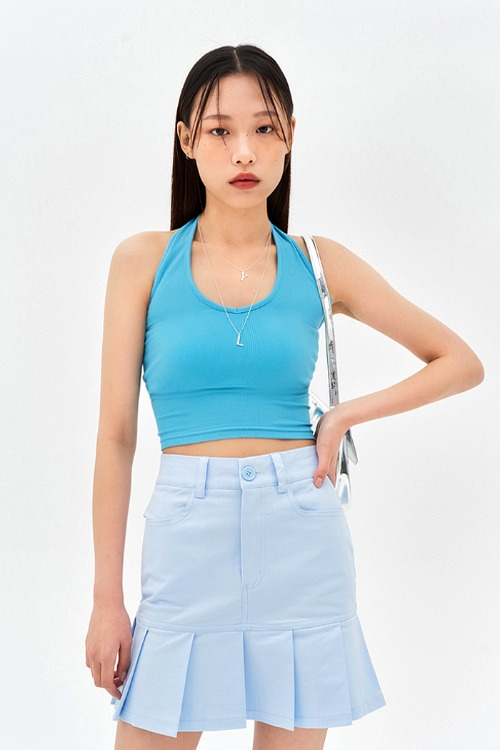 Halter Neck Blue